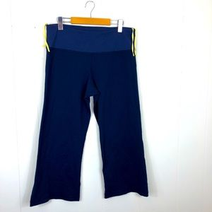 Lululemon Wide Leg Capris Navy Blue Sz 12